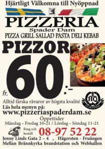 hägersten pizzeria hemkörning
